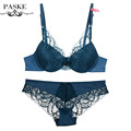 2016 Sexy Bra Set Lace Embroidery Underwear Adjustable Thin Cup Lingerie Set Womens Push Up Bras