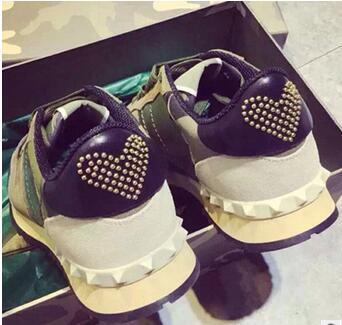 2016 14 цвета Моды Натуральная Кожа Бренд V роскошные valentineing женщины человек обувь мужчин Мира Голубь Обувь новые марка размер обуви 35-44(China (Mainland))