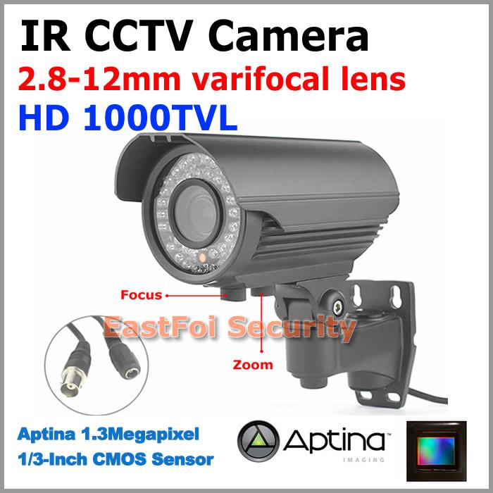 1000TVL High resolution CCTV Camera full HD waterproof 2.8-12mm varifocal lens IR night vision outdoor focus zoom CCTV Camera<br><br>Aliexpress