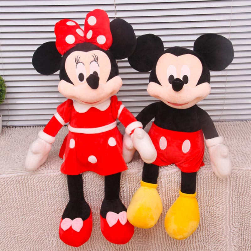 2017 New 1 Piece 40CM/50cm Mini Lovely Mickey Mouse Super Plush doll And Minnie Mouse Stuffed Soft Plush Toys Christmas Gifts(China (Mainland))