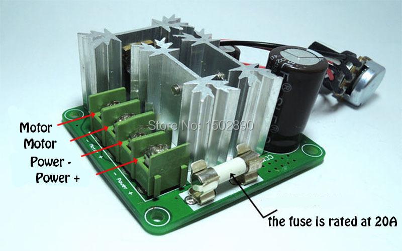 Dc 6v 90v 15a Pulse Width Modulation Pwm Motor Regulator Speed Controller Switch