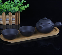 Travel Yixing tea set containing bamboo tray office gift teapot teapot side 200ml