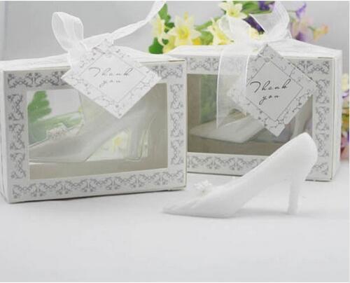 20pcs/lot Fairytale Cinderella High Heel Shoe Candle Wedding Favors Gifts(China (Mainland))