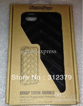 10pcs popular  and amazing GUMDROP DROP TECH SERIES FOR THE NEW IPHONE 5 CASE BLACK BRAND NEW