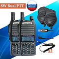 2 pcs BAOFENG UV 5R 8w UV 82HX Dual PTT UHF VHF Radio walkie Talkie sister