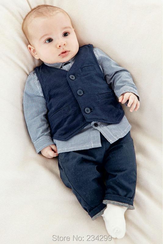 2016 new Baby boys clothing set Long sleeve (vest + shirts pant) suit roupas de kids clothes baby costume infant - H&Y store
