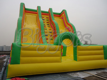 Popular Giant Doorway Inflatable Double Dry Slide For Good Sale(China (Mainland))