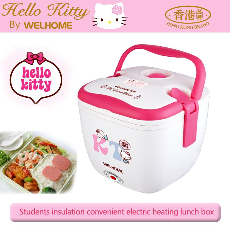 Cooking Tool 1.0L Hello Kitty Electric Lunch Box electric mini cooker rice cooker mini rice cooker automatic heater/rice cooker(China (Mainland))
