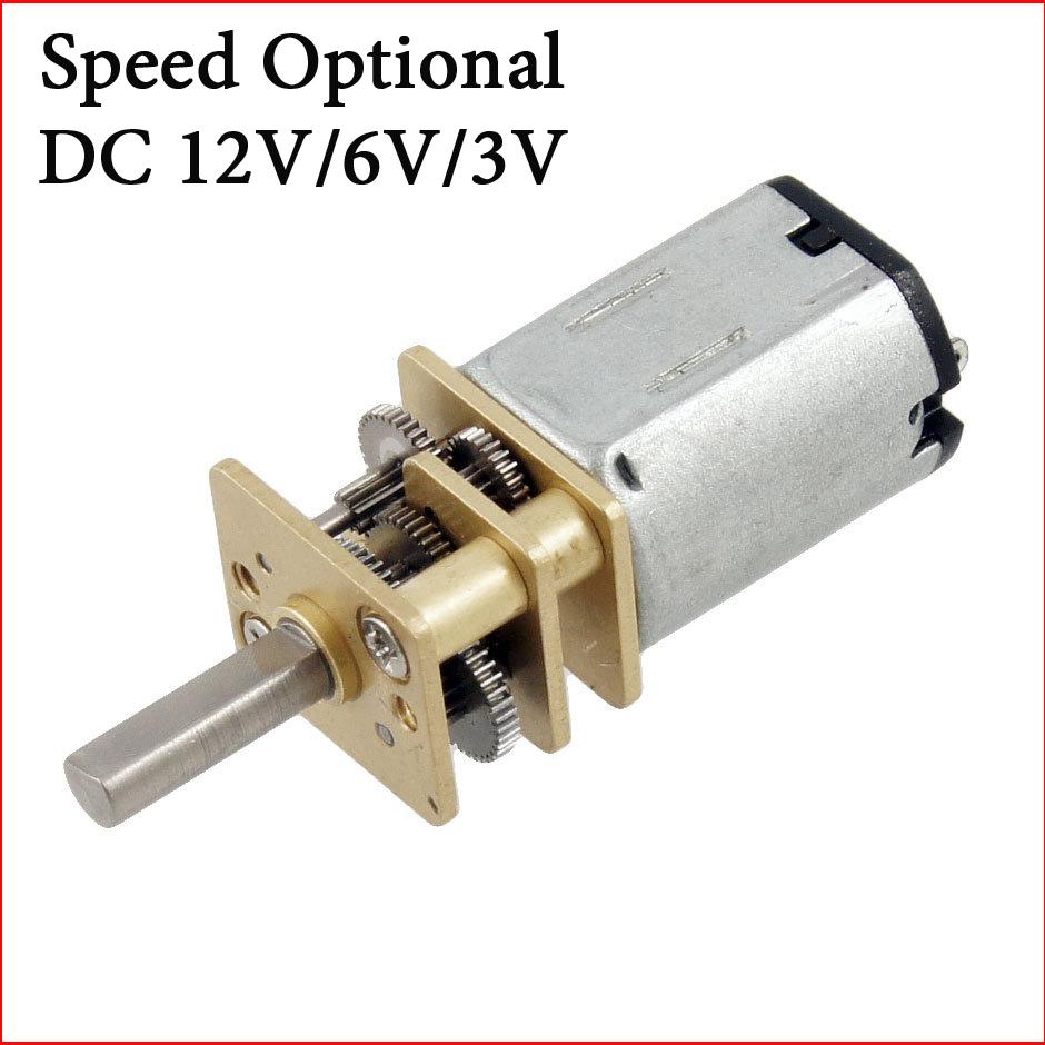 3V 30RPM Torque Gear Box Motor New