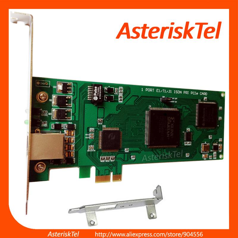 Asterisk card with Low Profile -1 port E1 / T1 card,PCI Express (PCI-E) connector,ISDN PRI card ,te110e(China (Mainland))