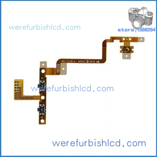 Free shipping For iPod Touch 4 4th 4G Power and Volume Button Circuit Flex Cable Ribbon(China (Mainland))