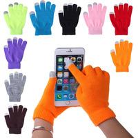 7 colori donne uomini touch screen guanti morbido cotone lavorato a maglia guanti invernali warmer smart per tutti i telefoni spedizione gratuita