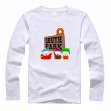 south park Stan Kyle Kenny Cartman couple clothes woman sports long sleeve T-shirt(China (Mainland))