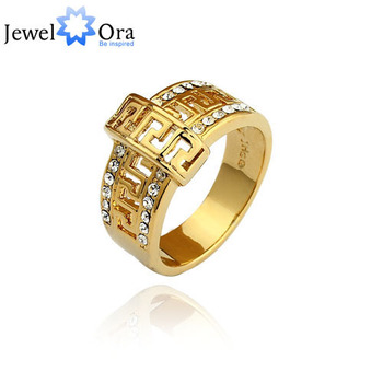 Vintage African Unisex Rings Designer Jewelry Mens 24K Rhinestone Real Gold Looking Ring (JewelOra Ri100243)