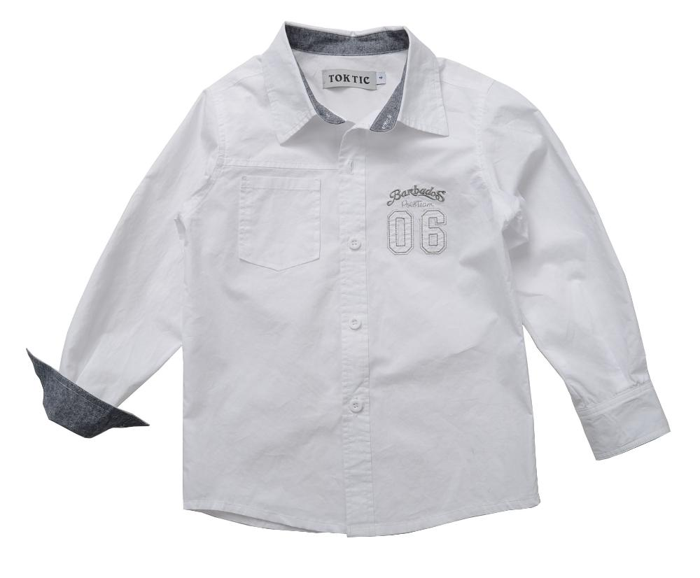 3 8 age Boys fashion classic style Shirts Children s Clothing boys long sleeve 100 cotton