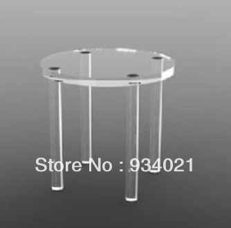 Free Shipping Small Furniture/ Round Acrylic End Table/Modern Coffee Table/ Side Table/Acrylic Table(China (Mainland))