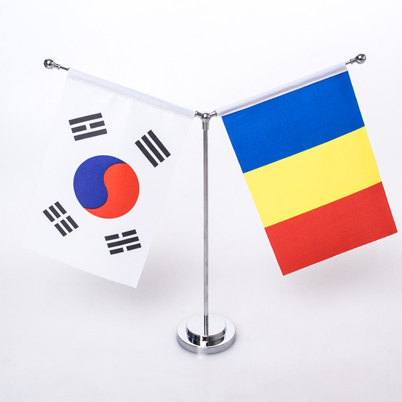 Metal Table Flag Base Desk Banner Holder Steel Color Base Holder for Size 14x21cm Small Flags Silver Ball and Base(China (Mainland))