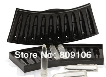 Wholesale ,1pcs/lot 10 hole bullet shaped Ice Cube Mold Chocolate Maker Trays 22*11*3cm, free shipping
