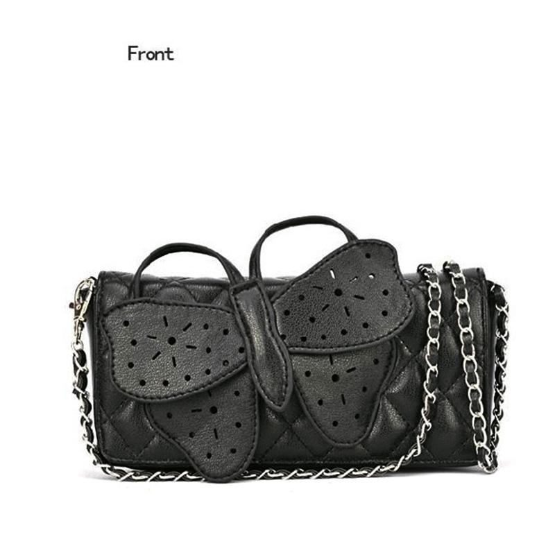 Women Butterfly Bow-knot Clutch Purse Wristlet Evening Chain Bags Top Quality Handbag Shoulder Crossbody Messenger Bag(China (Mainland))