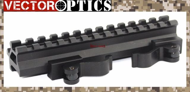 Vector Optics Long Quick Detachable Double Rail Angle Weaver Picatinny Mount w/ Integral QD Lever Lock System 13 Slots