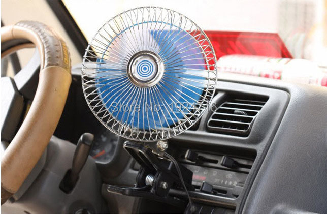 High Quality Car fans Electronics Automotive Solar fans 12V Portable Vehicle Gale Oscillating Cooling Fan Free Shipping(China (Mainland))