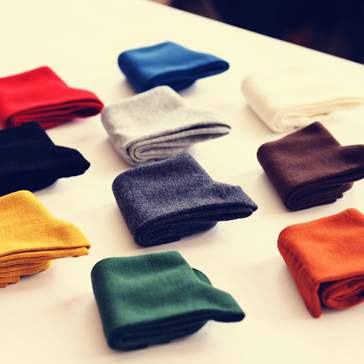6 Colors Candy Color Winter Autumn Men Solid Elite Casual Dress Long High Socks(China (Mainland))