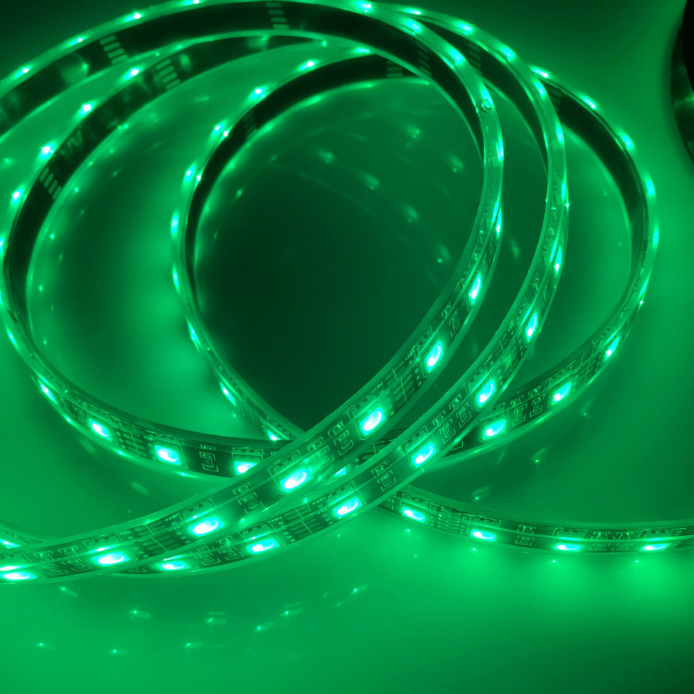 10pcs 16.4ft Black PCB 5050 RGB LED Strip 5M 300 LEDs Flex SMD Light 60led/M IP68 Underwater 50M(China (Mainland))