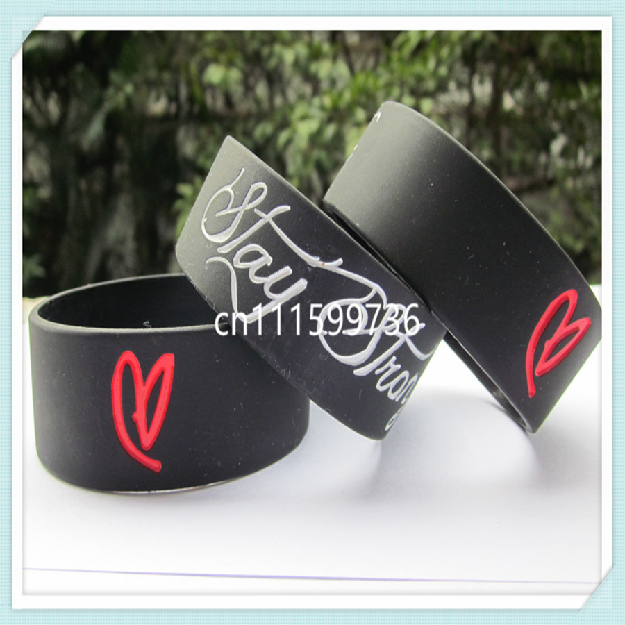 25pcs/lot Stay Strong Demi Lovato Inspired Silicon Promotion Gift Wristband Bracelet,free shipping(China (Mainland))