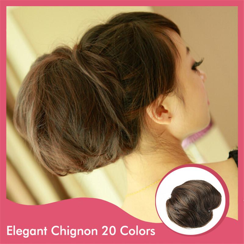 Q9 Fashion 1Pcs Synthetic Hair Chignon Hair Chignon Heat Resistant Multicolor Xmax Gifts Women Ladies Girls Beauty Bride<br><br>Aliexpress