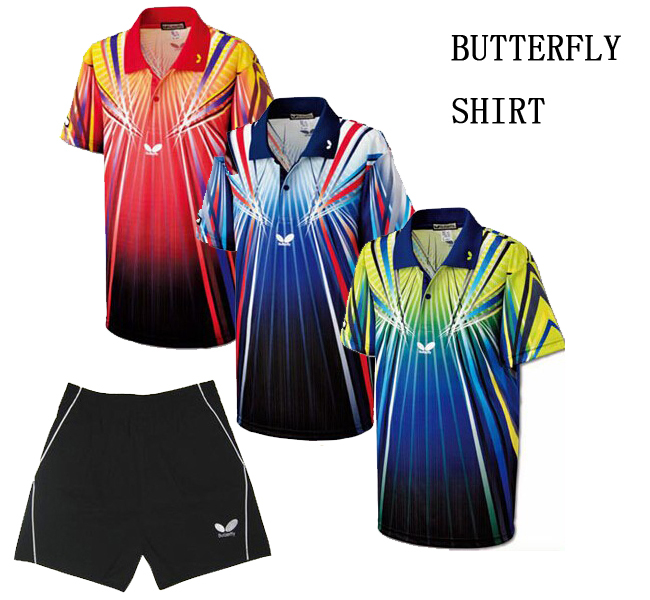 Butterfly Shirt table Tennis Clothing Male / Female Models Perspiration Wicking Short-Sleeved Tennis Match Clothing Sportswear(China (Mainland))