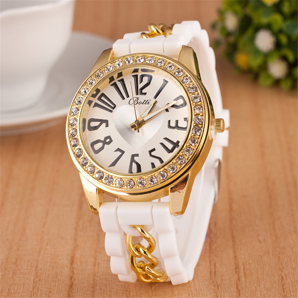2016 new fashion silicone quartz