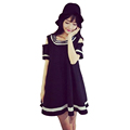 2016 Summer Korean College Fashion Strapless Lolita Dress Girlfriends Sisters Clothes Thin Black White Female Doll