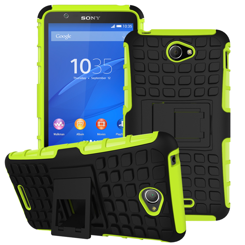 High Quality Mix Color Rugged TPU Plastic Heavy Duty Armor Case For Sony Xperia E4 Hard Slim Phone Back Cover E4(China (Mainland))