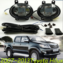 2007 2013 Toyota Hilux daytime light LED white blue Hilux fog light 2pcs wire of harness