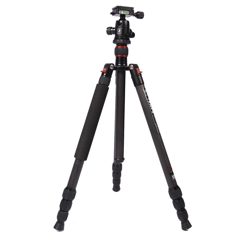 Регулируемый портативный профессиональный Triopo углеродного волокна штатив С Б-1 алюминиевая шаровая головка для Canon Nikon Сони DSLR камеры