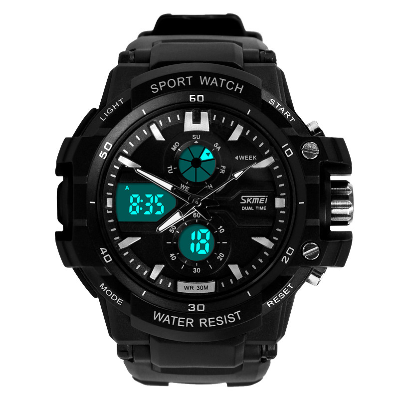Readeel Dual Movement Sports Watches Men Electronic Digital Analog Shockproof Silicone Watch Waterproof Wristwatches for Mens(China (Mainland))