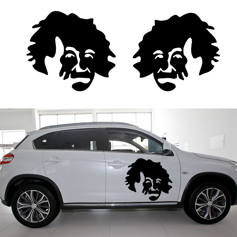 58cm x 51 56cm 2 x Einstein Graphical one For Each Side Car Sticker For Cars