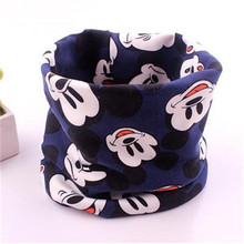 2016 fashion baby scarf Cotton Cartoon XL Children kerchief Autumn Winter kids scarf boys girls warm plush Neck collar scarves(China (Mainland))