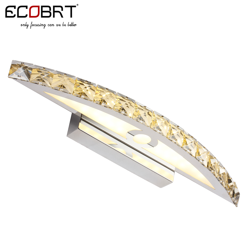 ECOBRT 10W Waterproof LED Bathroom Vanity Crystal Wall Light Mirror Light Fixtures For New Year 44cm long CE ROHS(China (Mainland))
