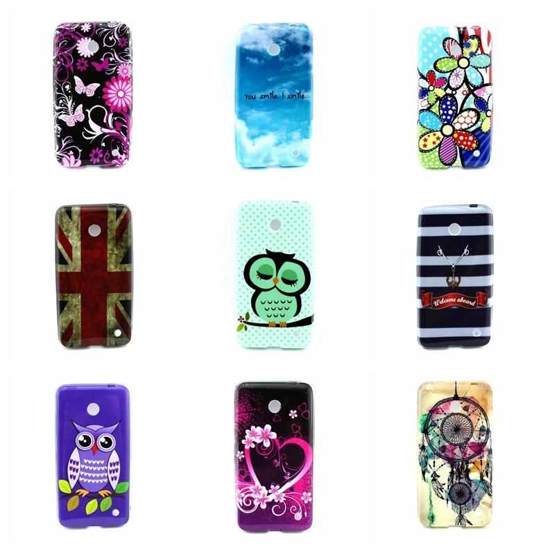 Cartoon Sleep Owl Family Flower UK USA Flag Nokia Lumia 630 N630 Soft TPU Back Skin Phone Cases Cover Design  -  T-WELL INC. store