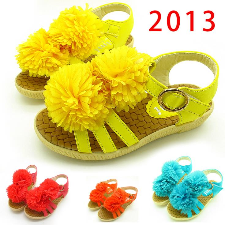 10% Off  free shipping child sandals candy color flower girls shoes child sandals princess shoes rubber bottom<br><br>Aliexpress