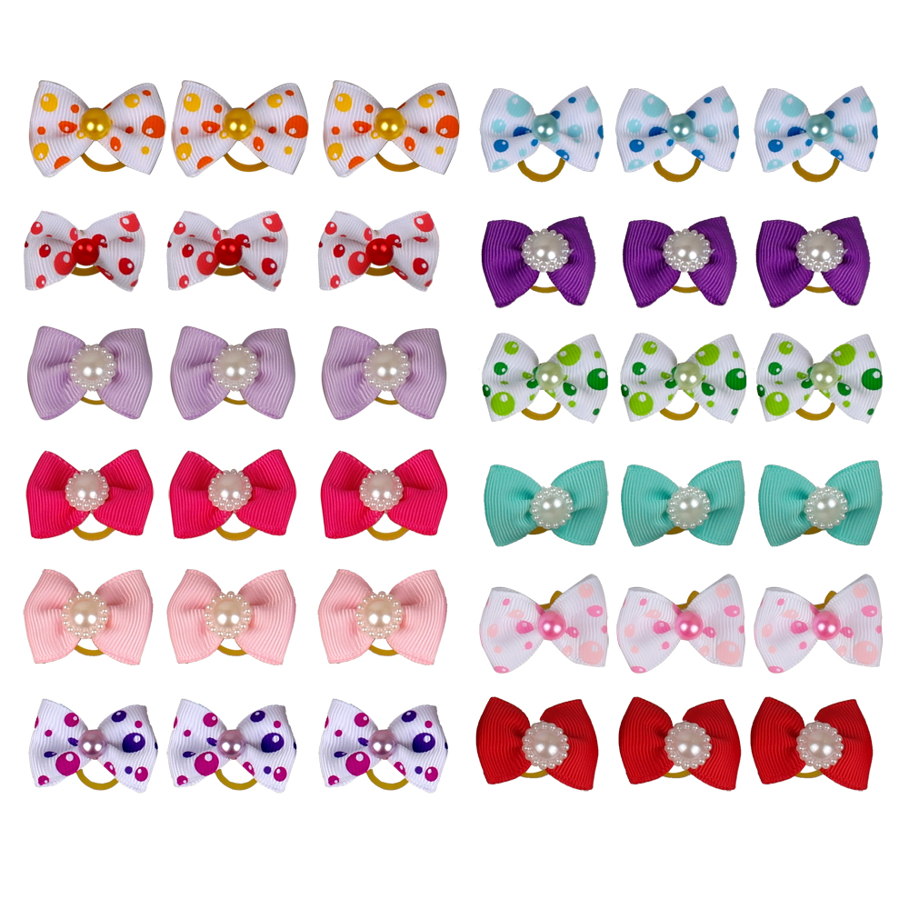 50PCS Dog Pet Cat Grooming Hair Bows Pet Charm & Accessories