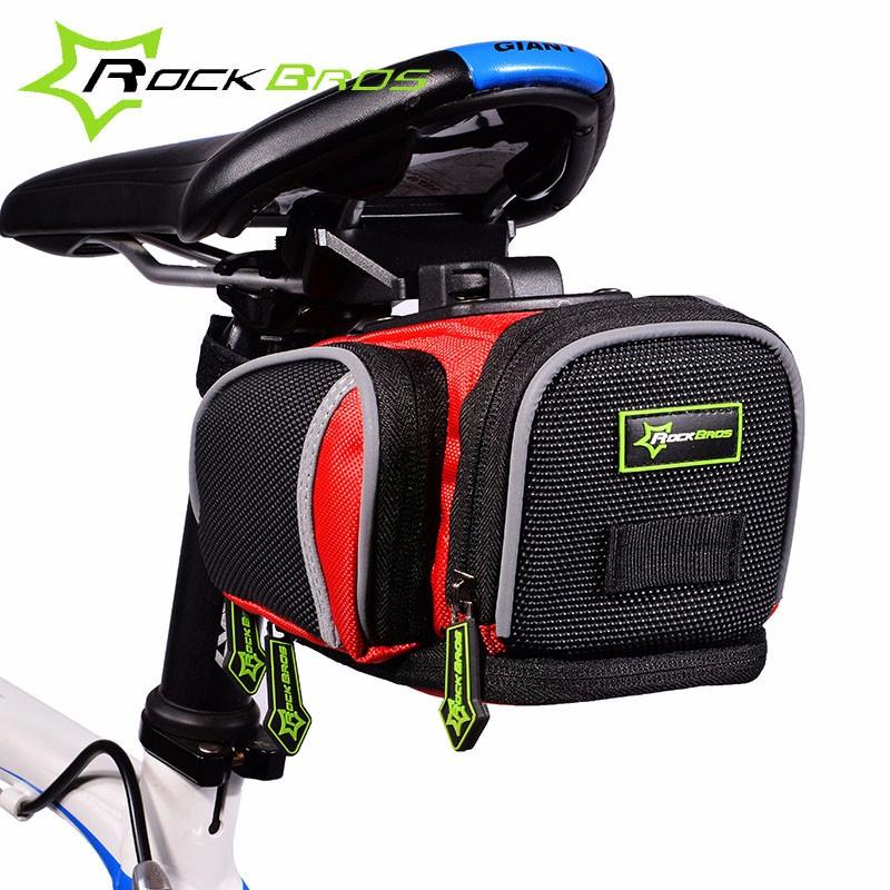 ROCKBROS-Bicycle-Bike-Rear-Bag-Rainproof-Nylon-Saddle-Bag-Outdoor-Cycling-Mountain-Bike-Ride-Back-Seat