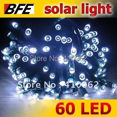 11m 60 LED White Solar Lamp String Fairy Lights Garden Christmas Party Outdoor Hot Sale New Year