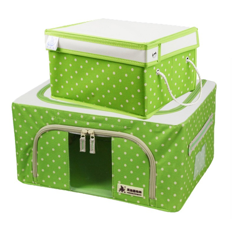 Wanbo Long oxford steel box plus suitcase suit , green, 50 * 40 * 30 28 * 25 * 16(China (Mainland))