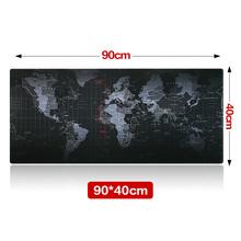 Large Size 900*400*3MM World Map Speed Game Mouse Pad Mat Laptop Gaming Mousepad(China (Mainland))