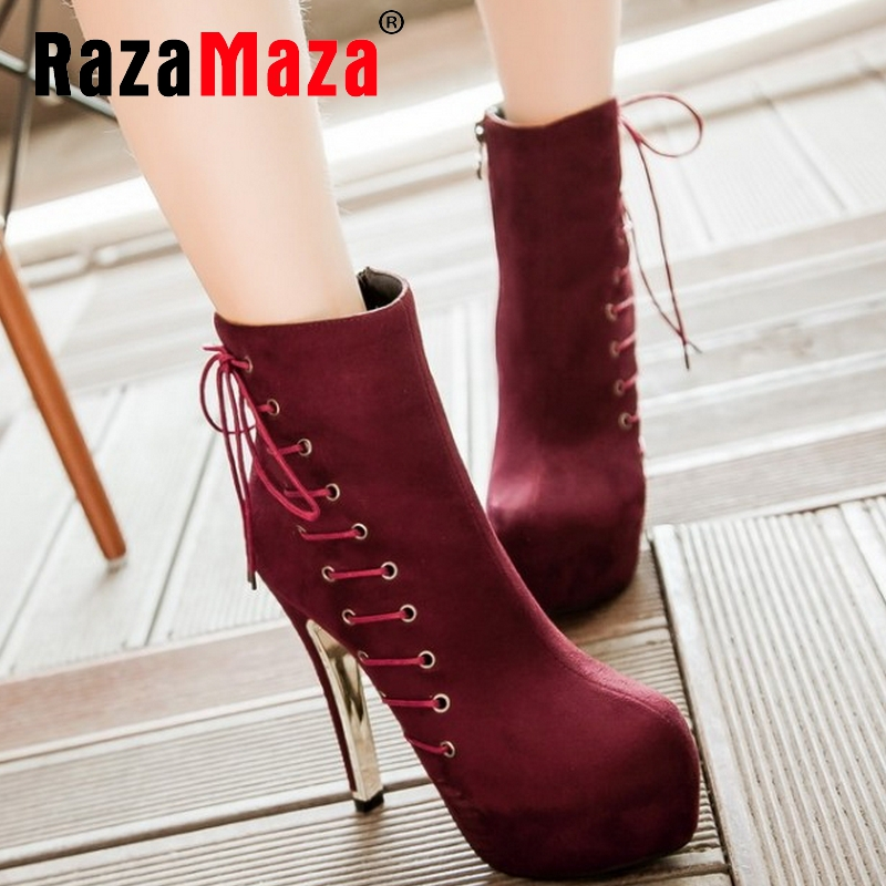 women high heel ankle boots half short botas autumn winter boot sexy heels fashion quality footwear shoes P20573 size 33-42<br><br>Aliexpress