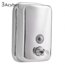 Polishing with lock satin finish Manual Hand Soap Dispenser, Washroom S. Steel 304 Liquid Soap Dispenser 35(China (Mainland))