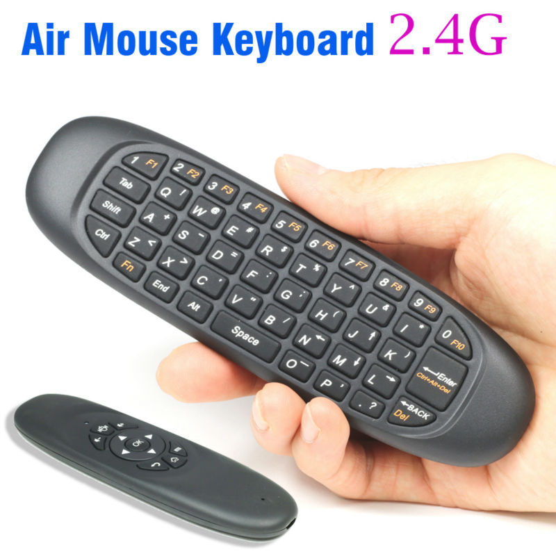 2.4Ghz Fly Air Mouse Wireless Keyboard C120 T10 teclado gamer Remote Control For android TV Box MINI PC(China (Mainland))