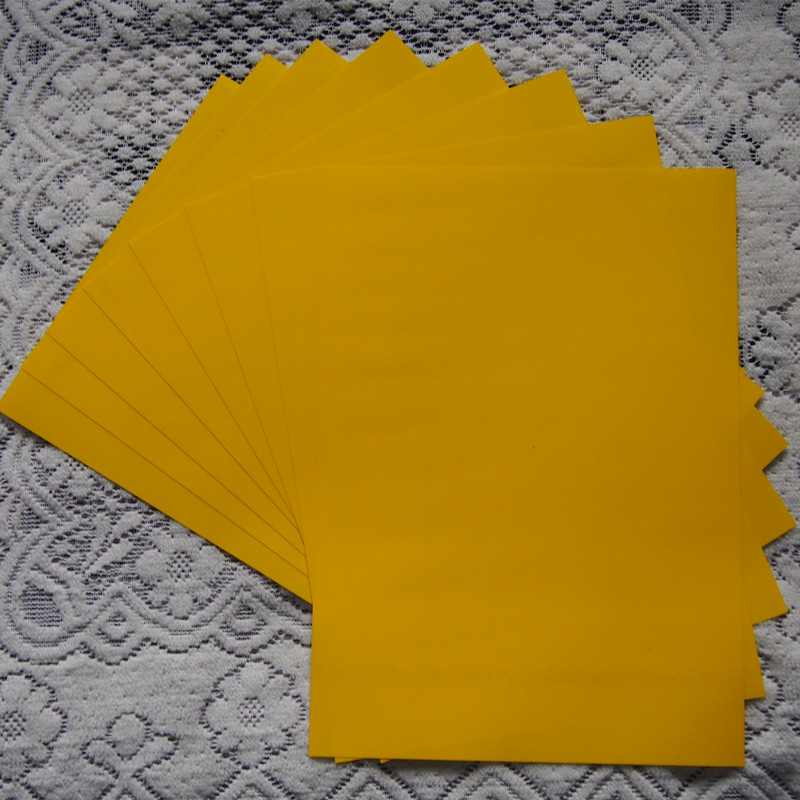 (A4*8pcs) Lemon Yellow Color PU Vinyl Heat Transfer Vinyl For Clothing Iron On Vinyl PU Film for T shirt Heat Press Vinyl LY605(China (Mainland))